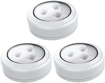 3-Pack Brilliant Evolution BRRC133 Wireless LED Puck Light