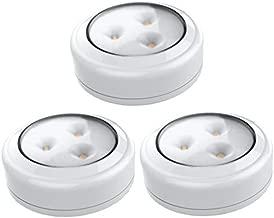 Brilliant Evolution BRRC133 Wireless LED Puck Light 3 Pack   LED Under Cabinet Lighting   Closet Light   Battery Powered Lights   Under Counter Lighting   Stick On Lights