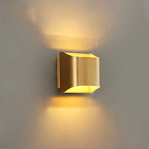 Modernas luces de la pared de cobre Lámpara geométrica de la pared de la pared, lighting de la pared de la pared de latón simple Kits para la sala de estar de la cama del dormitorio Salón de la sala d