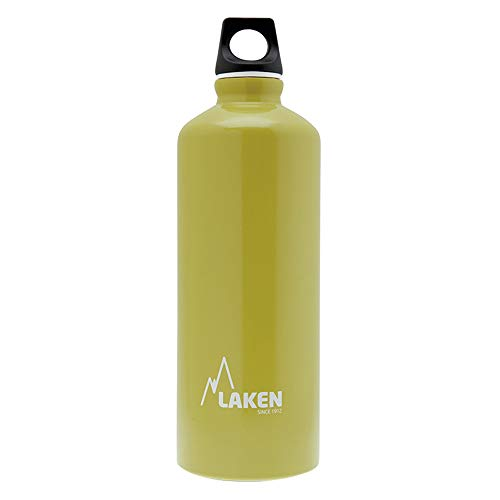 Laken Futura Borraccia di Alluminio, Bottiglia d'acqua con Apertura Stretta e Tappo a Vite con Anello 0,75 Litro Verde Opaco (Assortito)