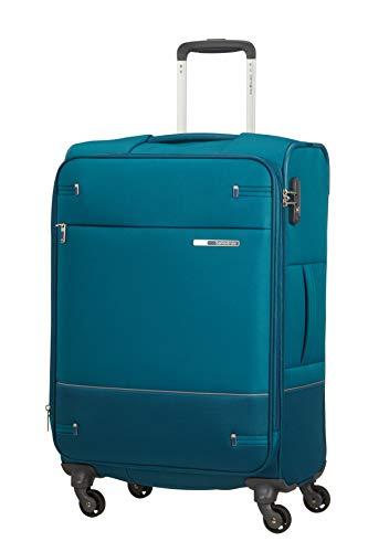 Samsonite Base Boost - Spinner M Erweiterbar Koffer, 66 cm, 67.5/73.5 L, Blau (Petrol Blue)