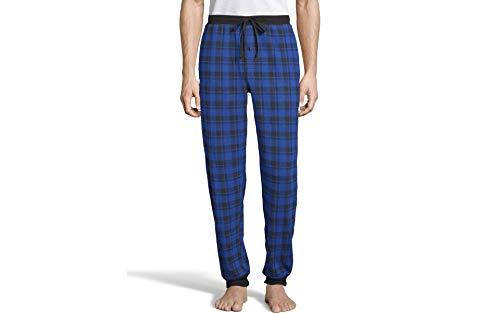 Hanes Men's Waffle Knit Jogger Pant, Blue, Extra Large