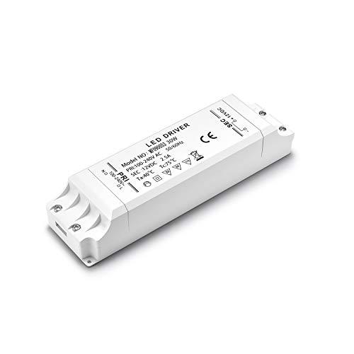 Yafido LED Trafo 230V auf 12V 30W 2,5A LED Driver Leuchtmittel Transformator Für G4 MR11 MR16 GU5.3 LED Birne sowie Lichtstreifen Treiber