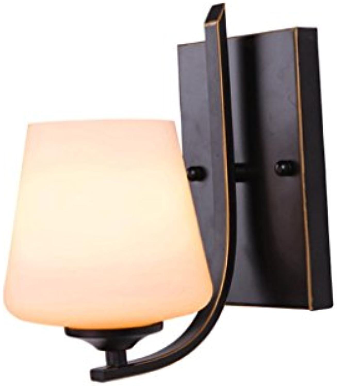 NJ Wandlampe- Vintage Eisen Wandleuchte E27 Wohnzimmer Esszimmer Küche Studie Schlafzimmer Badezimmer Spiegel Scheinwerfer Hintergrund Wand Gang Lichter