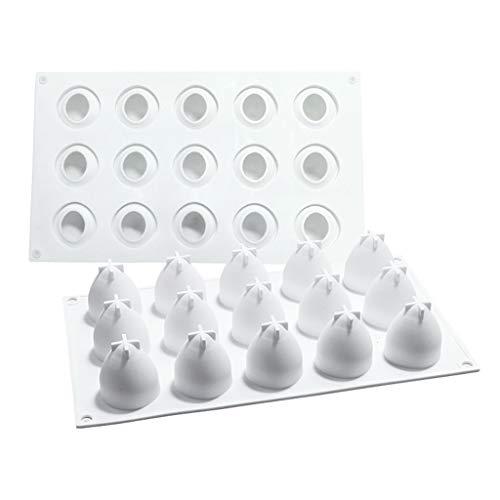 - Selma. 15-Cavity 3D aardbei siliconen chocolade bakvormen vierkante Mold Mousse taart voor handgemaakte geschenk