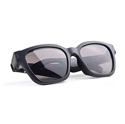 EREW Gafas de sol de audio inteligentes Lentes polarizadas UV400 Open Ear Bluetooth Gafas de sol Altavoz escuchar música hacer llamadas telefónicas conducir deportes al aire libre