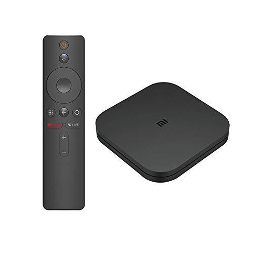 Mi Android TV Box 4K con Google Assistant Remote Streaming Player Alimentatore Presa Italia compatibile con Xiaomi Mi Box S