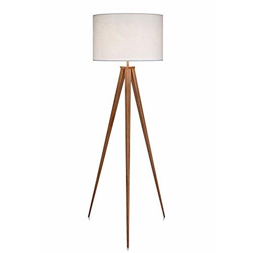 Versanora Romanza Lámpara LED de pie trípodeestándar Color Blanco VN-L00007, 50 W, Tostado, 50x50x175.5cm