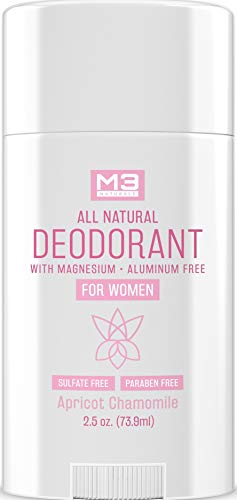 M3 Naturals Deodorant for Women - Organic, Non-Toxic, Gluten-Free, Vegan - Free of Aluminum, Baking Soda, Paraben, Sulfates - Natural Antiperspirant with Magnesium 2.5 oz