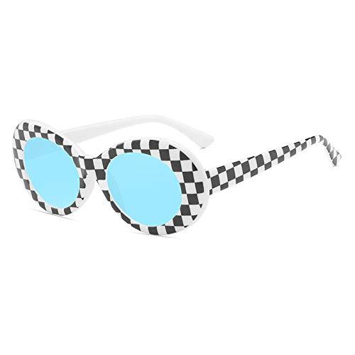 Gafas de Sol Gafas De Sol Retro para Mujer, Gafas Redondas con Montura De Pc, Anteojos Vintage para Hombre, Gafas De Diseñador De Lujo para Mujer 8