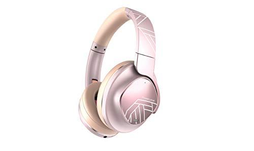 PowerLocus Active Noise Cancelling Headphones, Bluetooth Over-Ear Headphones with Noise Reduction, 70Hrs Playtime, Wireless Headphones, Hi-Fi Deep Bass, Foldable with Microphone for Phones/Laptops/PC