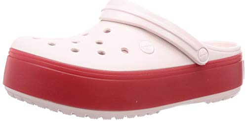 Crocs Crocband Platform Clog U, Zoccoli Unisex-Adulto, Rosa (Barely Pink/Pepper 6qb), 38/39 EU