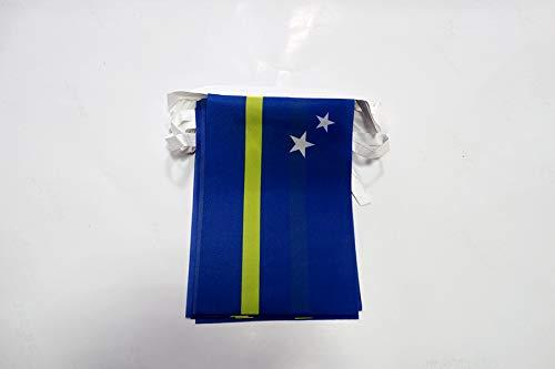 Lichterkette 12Meter 20Flaggen Curaçao 45x 30cm–Flagge Holländer 30x 45cm–AZ Flag