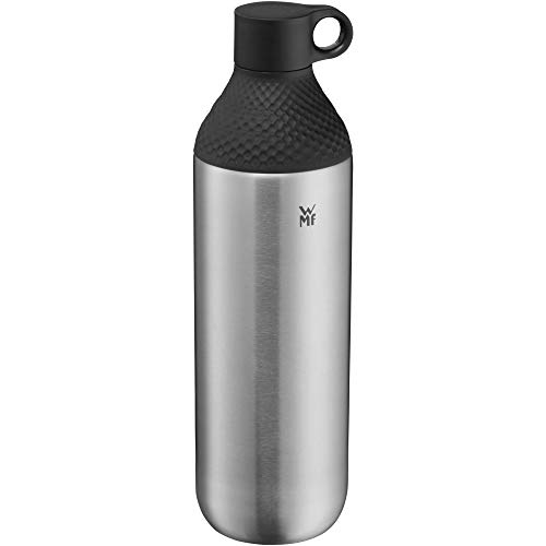 WMF Waterkant Trinkflasche Edelstahl 750ml, Edelstahlflasche Kohlensäure geeignet, Drehverschluss, auslaufsicher, BPA-frei
