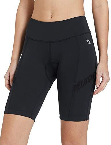 BALEAF Women's Bike Shorts 3D Gel Padded High Waist Cycling Biking Bicycle Cycle Biker Shorts Breathable UPF 50+ Black XL