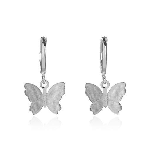 Ba30DEllylelly Pendientes de Gota de Mariposa Joyer¨ªa de Moda Pendientes de aro Accesorios de Encanto para Mujer Regalo de joyer¨ªa