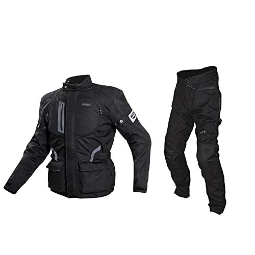 LITI Motocicleta trajes moto chaqueta impermeable con motocicleta pantalones CE aprobado armadura para hombres