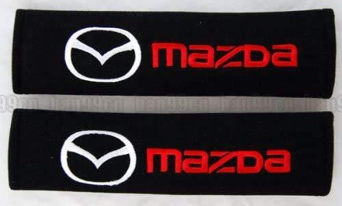 2Pcs Car Seat Belt Cover for Mazda2 Demio Mazda3 Mazda6 Atenza Mx-5 Roadster Cx-3 Cx-4 Cx-5 Cx-8 Cx-9, Comfort Soft Safety Interior Accessories Protector Neck and Shoulder Rubbing