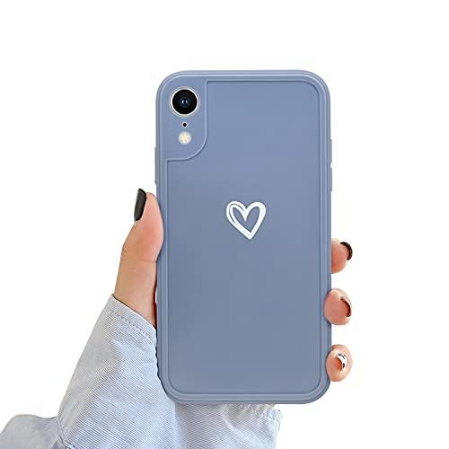 NewseegoCompatibile periPhoneXRCustodia, Carino Heart iPhoneXR Custodia Morbido TPU iPhoneXR Cover per Ragazze Donne Protettivo Custodia in Antiurto Sottile iPhone XR- Grigio