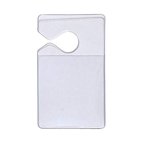 Clear Vertical Vehicle Parking Pass Hang Tag Holder by Specialist ID (2-Pack) Photo #2