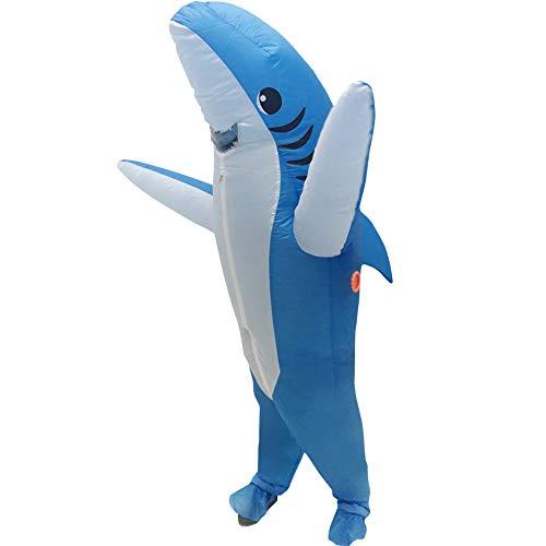 Raburt Inflatable Shark Costume Halloween Cosplay Carnival Party Christmas Costumes Suit Adult Animal Fancy Dress