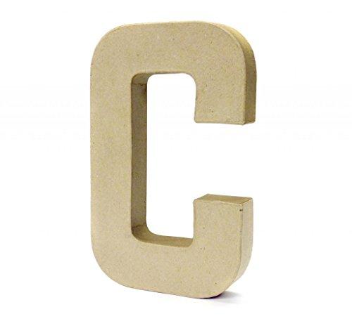 Papier Paper Mache Large Letters 20.5cm - Cardboard Craft (C)