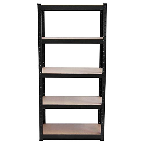 2020 New Stronger 5 Tier Garage Shelves Shelving Racking Boltless Heavy Duty Can Be Used for Bookcase, Display Cabinet, Shelving, Shelving System, Shelving Unit, Storage Unit
