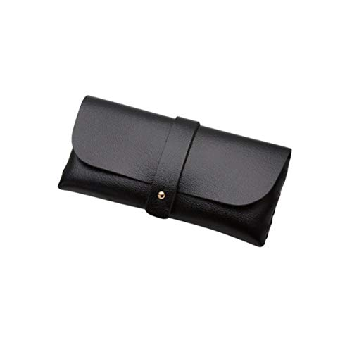 jowpsメガネケース メンズ サングラスケース メンズ ハードケース 超軽量 レディース (ブラック)