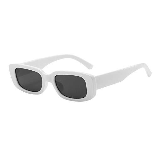 Gafas de sol rectangulares Gafas de sol cuadradas vintage Gafas Protección UV400 Gafas retro para mujeres Hombres