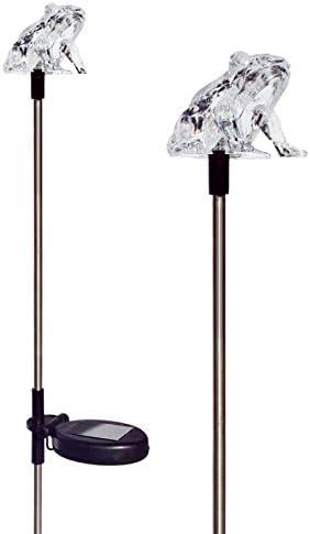 Tricod quality assurance E2179 Frog Solar Powered Yard Medium Light Dealing full price reduction Stake Garden