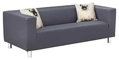 Collection AB Cube Sofa, Stoff, anthrazit, 85 x 183 x 65 cm