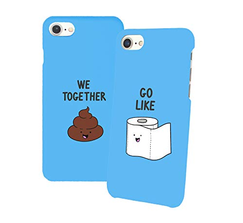 Go Couple Toilet_011341 Iphone Phone Hard PC Case Cover For Couples Best Friends In Relationship Present BFF Bae For Iphone 6 6s 7 7plus 8 X Case Cover 3D Print