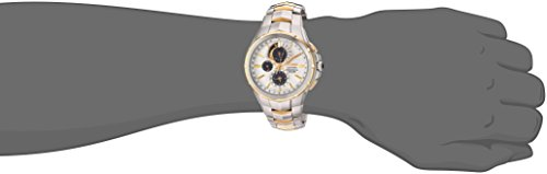 Seiko Men's Coutura Japanese-Quartz Watch with Stainless-Steel Strap, Two Tone, 25 (Model: SSC560)