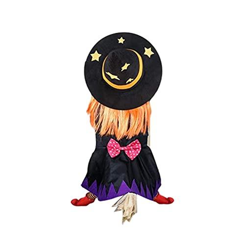 Enfeites de bruxa para pendurar, decoração de Halloween, bruxa de impacto, presentes de decoração de bruxa clássica, acessórios de decoração de festa de Halloween para jardim, pátio, decoração de casa 10677 cm