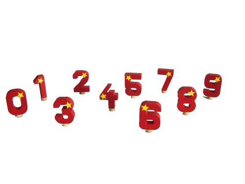 Niermann-Standby 9015E - 1 - Geburtstagsergänzungsset 2, Geburtstagszahlen 0-9, passend für Artikel 9014 Geburtstagsraupe und 9016 Geburtstagszug