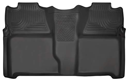 Husky Liners Fits 2007-13 Chevrolet Silverado/GMC Sierra 1500 Crew Cab, 2007-14 Chevrolet Silverado/GMC Sierra 2500/3500 Crew Cab Weatherbeater 2nd Seat Floor Mat (Full Coverage)