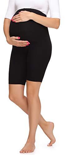 Merry Style Legging Court Grossesse Maternité Tenue Sport Femme MS10-299 (Noir, XL)