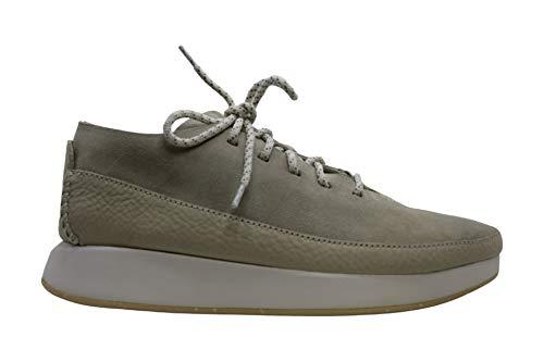 Clarks Kiowa - Zapatillas deportivas de piel con cordones para mujer, Blanco (Blanco), 38.5 EU
