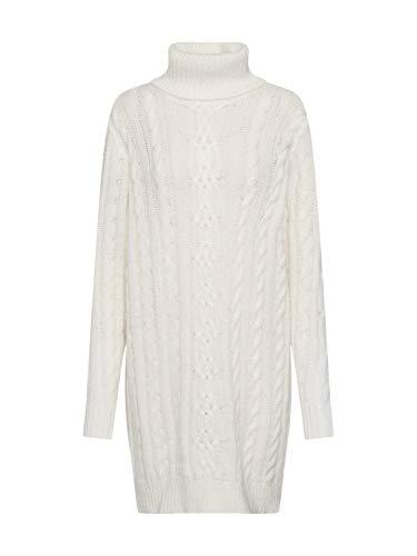 Object Damen Strickkleid OBJKIARA L/S Knit Dress A AU weißS/M