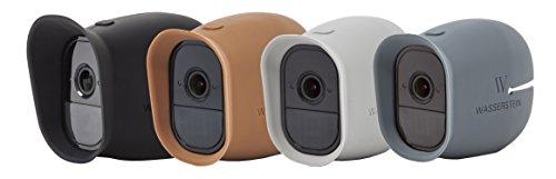 Silikon Skins mit Sonnendach für Smart Home Security Arlo Pro, Arlo Pro 2 100prozent WiFi Kameras - von Wasserstein (schwarz/braun/grau/blau)