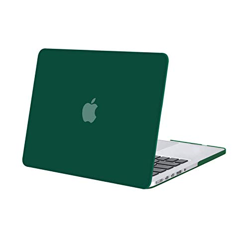 MOSISO Plastic Hard Shell Snap On Case Cover Only Compatible with Older Version MacBook Pro Retina 13 Inch (Model: A1502 & A1425) (Release 2015 - end 2012), Peacock Green