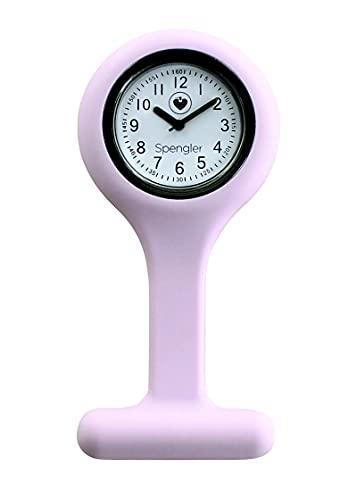 Spengler Reloj de Enfermería para un Aspecto Perfecto, Ligero, Resistente y Práctico (Rosa)