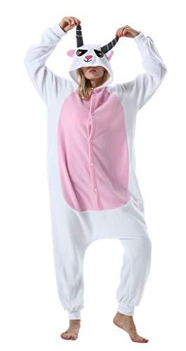 Pijama Onesie Adultos Mujer Cosplay Animal Disfraces Sleepwear Goat L