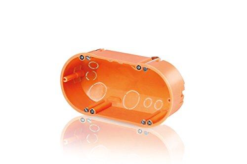 f-tronic 1534488 Hohlwand-Gerätedose, doppelte Ausführung, 47mm tief, E118, Inhalt: 10, Stück