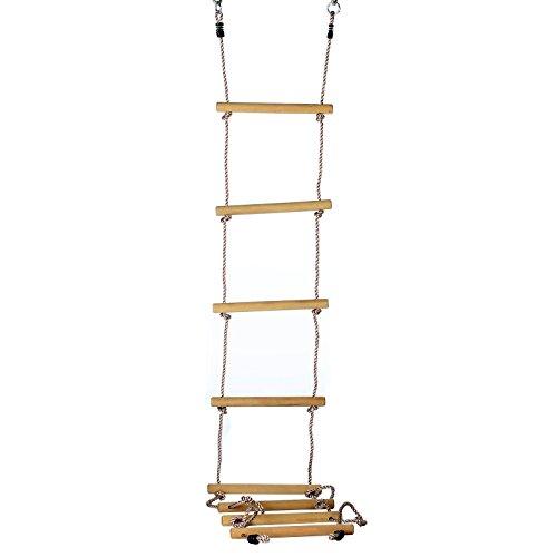 Gartenpirat Escalera de Cuerda 8 peldaños Madera sólida 290 cm