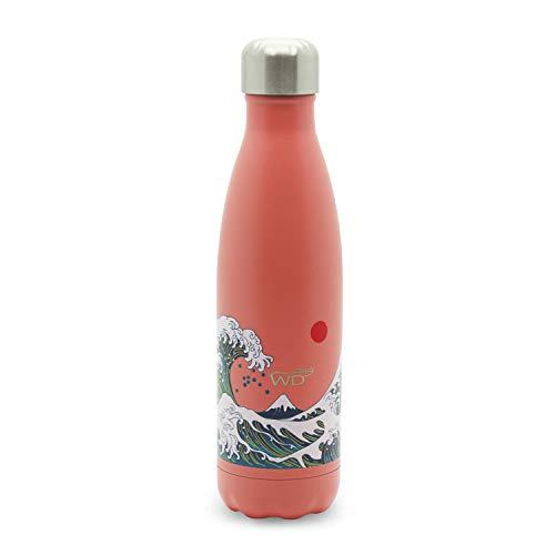 WD lifestyle WD365, Bottiglia Termica Acciaio Inox Unisex Adulto, Onda, Medium