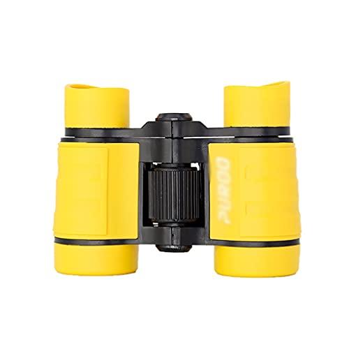 ZHIHUI Telescopios Astronomicos 4x30 binoculares para niños binoculares de Bolsillo Ligero para niños de 3 a 12 años niñas Catalejos (Color : Yellow)