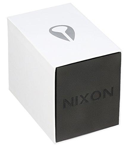 『Nixon メンズ A105 セントリー 42mm ステンレス レザー クオーツムーブメント時計 One Size Rose Gold-Tone/Gunmetal/Brown』の1枚目の画像