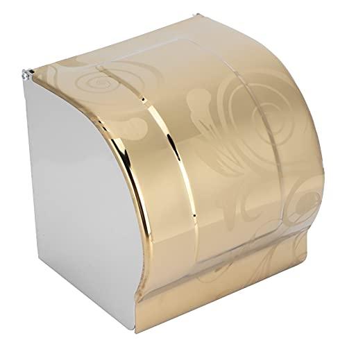 Omabeta Soporte para Papel higiénico, Acero Inoxidable Dorado, Resistente al Agua, Estante de Papel en Rollo para baño, hoteles, restaurantes