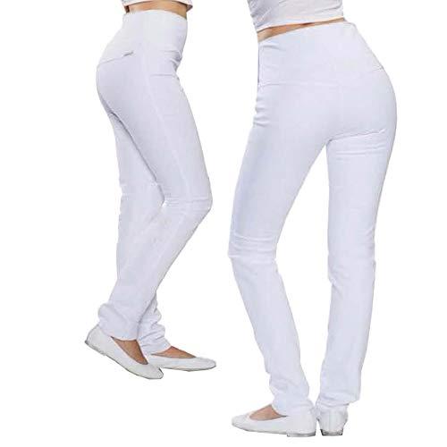 Whitewear Bauchweg-Leggings Strechhose Xena Hose Schwesternhose Arbeitshose weiß Gr. S